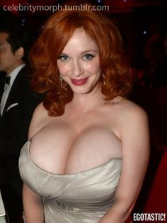 Christina Hendricks showing off.