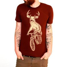 Dark Cycle Clothing: Deer On A Bike Tee, at 12% off!