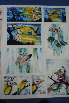 Mahurangi College Y13, Board 2 2012 New Zealand Art, Art Portfolio, Cambridge, Boards, College, Painting, Planks, University, Painting Art