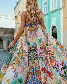 Floral Spaghetti-neck Maxi Dress Vacation Dresses, Summer Dresses, Maxi Dresses, Beach Dresses, Casual Dresses, Backless Dresses, Floral Dresses, Floral Maxi, Summer Outfits