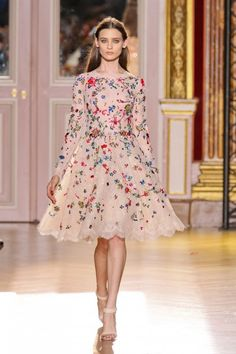 Défilé Zuhair Murad...so pretty.  It reminds me of a cupcake with colored sprinkles on it.