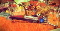 Spaceship from the upcoming game No Mans Sky.