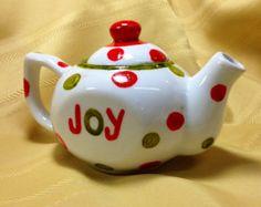 Joy Christmas Teapot