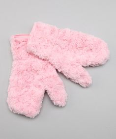 Take a look at this Pink Twist Mittens by Corky & Company on #zulily today!