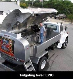 Oil Truck Turned into a Barbecue Grill - Serious Tailgating! Cool Trucks, Big Trucks, Cool Cars, Volkswagen, Off Road, Custom Trucks, Motorhome, Supercars, Jeep