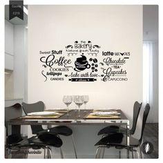 Vinilos Decorativos / Cocina Bakery 2 Inmobiliaria Ideas, Ideas Para, Coffee Bar Design, Coffe Bar, Coffee Theme Kitchen, Wall Design, House Design, Cafe Shop, Restaurant Design