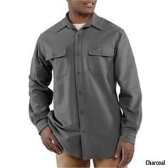 Carhartt Men's Chamois Long-Sleeve Shirt-703462 - Gander Mountain