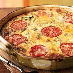 Healthy Quiche Recipes   Garden Vegetable Crustless Quiche   CookingLight.com