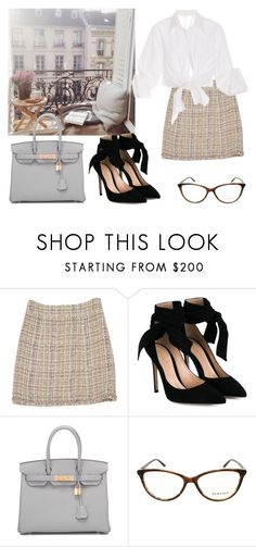 """""""Untitled #121"""" by nuage-orage on Polyvore featuring Chanel, Gianvito Rossi, Hermès, Versace and Johanna Ortiz"""