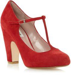 Dune Antina tbar block heel court shoes on shopstyle.co.uk