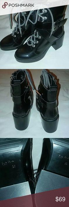 Zara Women's Black Boots Zara Black Heel Boots. Size 6 . Never Worn. New With Tags Zara Shoes Heeled Boots