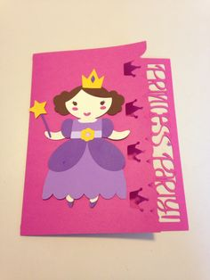 First try at an invite. Made with cricut once upon a princess cartridge