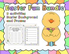 This Easter holiday bundle includes lots of fun, easy worksheets for your classroom. It includes group activities as well as individual activities. 8 activities total and 3 resources for teachers to use. Easter Worksheets, Easter Activities, Group Activities, Holiday Activities, Winter Words, Easter Backgrounds, Teacher Resources, School Resources, Thing 1