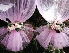 ideas baby shower girl decorations diy tulle balloons for 2019 Shower Party, Baby Shower Parties, Baby Shower Themes, Shower Gifts, Party Decoration, Balloon Decorations, Wedding Decorations, Wedding Ideas, Tulle Balloons