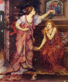 """Queen Eleanor and Fair Rosamund"" by Evelyn de Morgan (1905)"