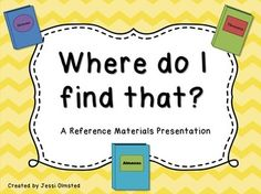 Do you need to teach your students the different type of reference texts and how they are set up? Then this is for you! A quick and to the point lesson on how a dictionary, thesaurus, atlas, encyclopedia, and almanac are set up and what you can find in them.