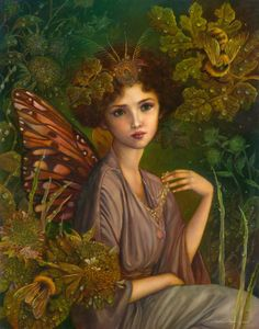 """""""The Faerie Queen"""" by Annie Stegg  11x14  oil on panel  April 2013"""