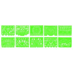 Lime Green Papel Picado Banner - 18 Ft. Long [KWPSL-LM_PSPL-LG Green Banner] : Wholesale Wedding Supplies, Discount Wedding Favors, Party Favors, and Bulk Event Supplies