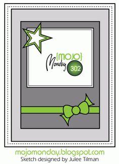 Mojo Monday #302 Card Sketch Designed by Julee Tilman #mojomonday #vervestamps #cardsketches