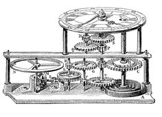 3 Vintage Images - Steampunk Gears Clock