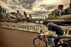 biking over the river by redeyeproject  on 500px