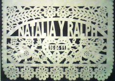 Wedding PAPEL PICADO Personalised Mexican by MexicanDecorations