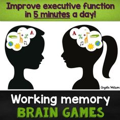 Working Memory Brain Games for kids--these games improve kids' executive functioning in just 5 minutes a day