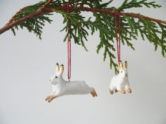Arctic Hares  set of 4 by charmingcreatures on Etsy