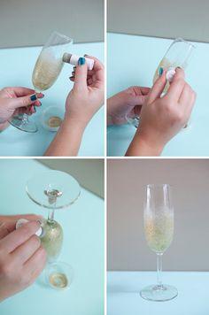 DIY Deluxe Champagne Glasses