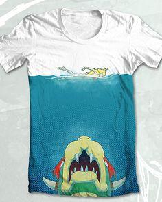 Jaws parody t shirt by Threadless designer vomitinc
