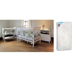 Summer Infant Carrington Nursery Set with BONUS MATTRESS, White`! 200$
