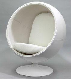 Ball Chair white Design 1966  http://loft-concept.ru/catalog/kresla-dlya-gostinoy/ Ball Chair белый