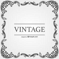 Vintage vector ornamental frames
