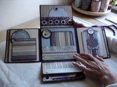 Album in a Box 1= Modèle 1 de album in a box de JACQUI CHIMES avec les papiers basic grey....