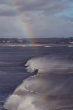 This image was taken by Marc while he was sat on his surfboard in the sea off the Devon coast - Surfing is HUGE in the West-country, Marc and his friends have been known to surf in the snow, now that's dedicated!  #farmhouse #Etsy #rustic #reclaimed  #wood #interiors #UK #handmade #design #country #rainbow #surf #Devon #ocean #traditional #sea  #surfing to find out more go to www.facebook.com/woodbyname?ref=hl