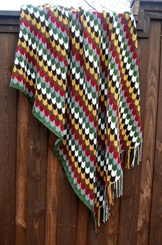 How To Crochet Apache Tears Pattern For Blanket : Crochet Houndstooth & Larksfoot stitch & Apa...