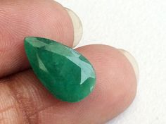 Emerald Pear Cut Stone Natural Loose Emerald by gemsforjewels