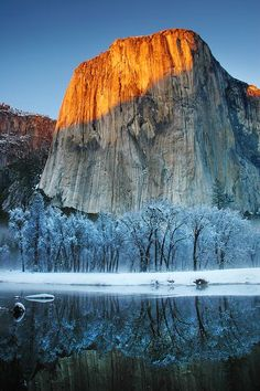 Frosty Alpen Glow - El Capitan, Yosemite National Park, California, USA  (Photo by Jc Christoper -- National Geographic)