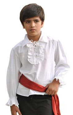 Kids Pirate Costume Shirt (Small (4-6 yrs)) *** Check out this great product.