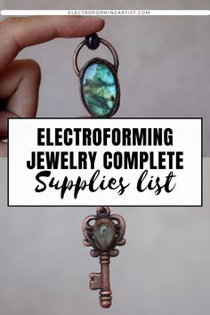 Do you want to start electroforming jewelry? Read this post to discover the complete list of supplies needed to start this beautiful art! #electroforming #electroformingtips #electroformingjewelry Copper Jewelry, Beaded Jewelry, Electroforming Jewelry, Polymer Clay Tools, Wire Wrapping Crystals, Clear Nails, Antique Copper, Promotion, Jewelry Making