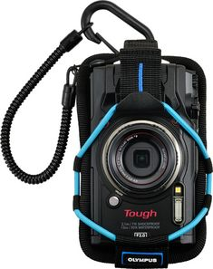 Olympus Tough TG-5, black, with Sport Holder (blue), CSCH-123 https://www.photoxels.com/olympus-tough-tg-5/