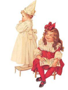 Glanzbilder - Victorian Die Cut - Victorian Scrap - Tube Victorienne - Glansbilleder - Plaatjes : Mädchen II - girl II - fillet II