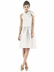 Alfred Sung Style D534    #white/ivory #bridesmaid #dress