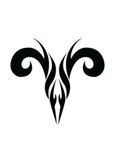Tatto Ideas 2017 Zodiac Tattoo Designs With Image Zodiac Symbol Picture Aries Tribal Tattoo 5 Aries Ram Tattoo, Taurus Constellation Tattoo, Zodiac Sign Tattoos, Zodiac Signs, Aries Tattoos, Aquarius Tattoo, Aries Art, Aries Sign, Elfen Tattoo