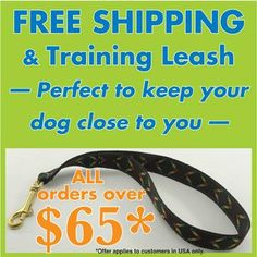 With every order over $65 we've been including a free training leash. If you received one, please tell us if you like it? Has it been useful? #pets#dogs#cats#birds#rabbits#lovablepets
