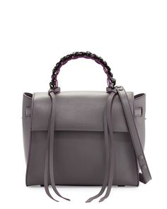 a4efab3645e Shop for Angel Sensua Medium Satchel Bag, Gray Purple by Elena Ghisellini  at ShopStyle.