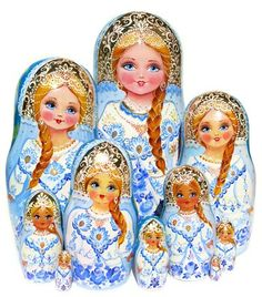 Snow Maiden Nesting Doll 10-Piece Babushka