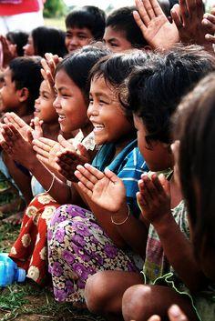 Village children . Cambodia
