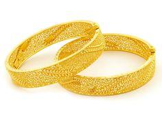 47.10g 22Kt Gold Filigree Bangle / Kara 44 | MonsterMarketplace.com