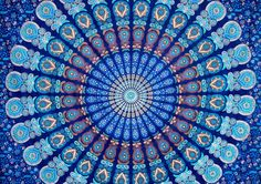 Hippy Wall Hanging Mandala Tapestry Throw Bedspread Picnic Beach Sheet Coverlet #Handmade #Indian